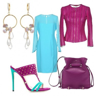 Outfit Viola&turchese