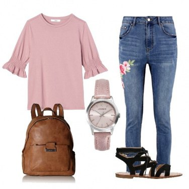 Outfit Denim e pink