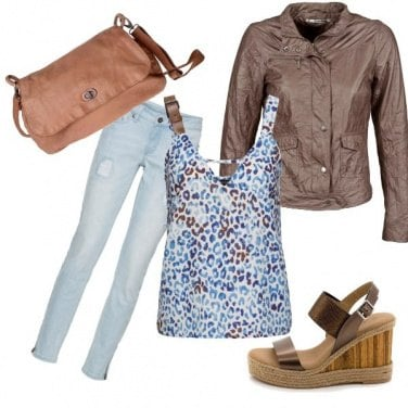 Outfit Top maculato