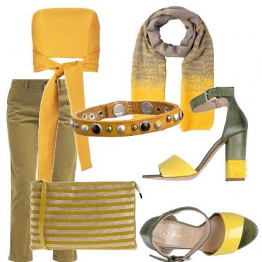 Outfit Sportiva chic giallo e verde