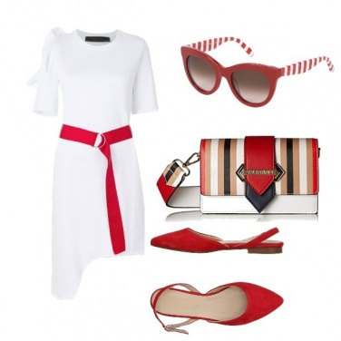 Outfit Contrasti in rosso
