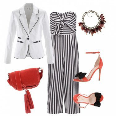 Outfit Righe curvy