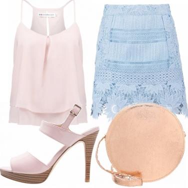 Outfit Allegra, in rosa e azzurro!