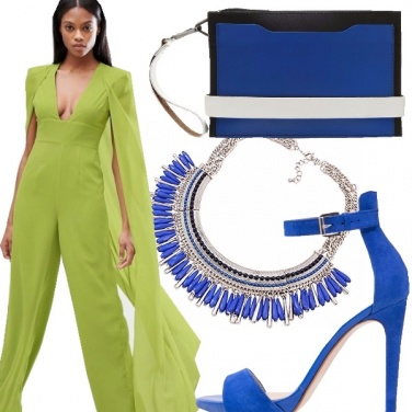 Outfit Lime & blue