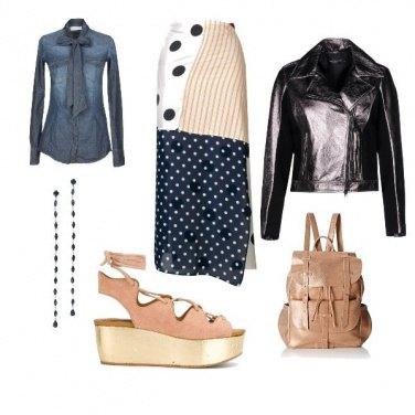 Outfit Biker jacket alternativo