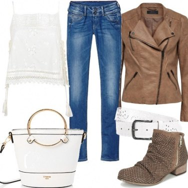 Outfit Rock in jeans