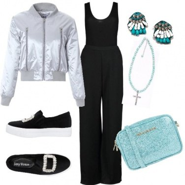 Outfit Il bomber silver