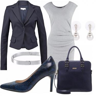 Outfit Ufficio blue&grey