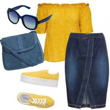 Outfit Yellow and jeans