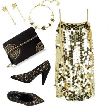 Outfit Gold night