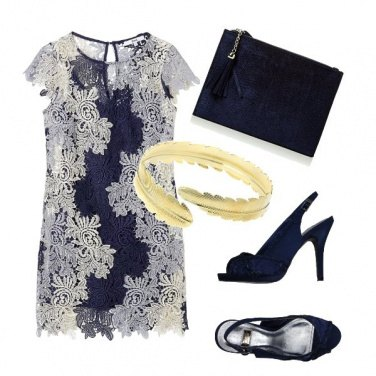 Outfit Blu pizzo