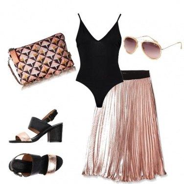 Outfit Rosa tenue metallico