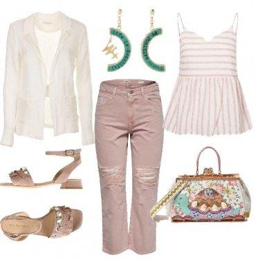 Outfit Orecchini We Positive e sandali gioiello