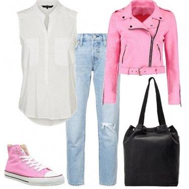 Outfit Biker e jeans, un classico