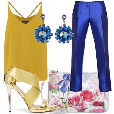 Outfit Oro e blu...per una serata elegante