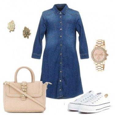 Outfit Le converse bianche