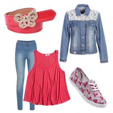 Outfit Cintura in rosa