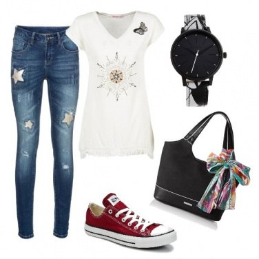 Outfit Converse rosse