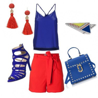 Outfit Red and blue passion