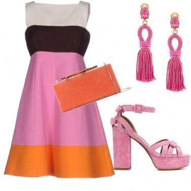 Outfit Cerimonia Chic Multicolor