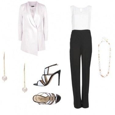 Outfit Matrimonio in bianco e nero