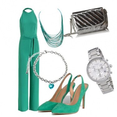Outfit Verde e argento low cost