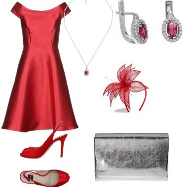 Outfit Cerimonia con argento