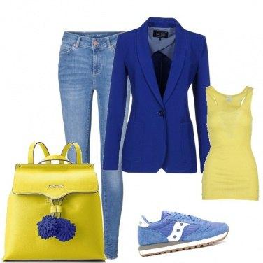 Outfit Zaino giallo