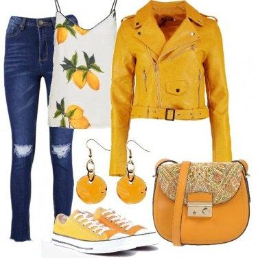Outfit Converse al limone