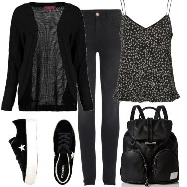 Outfit Converse nere
