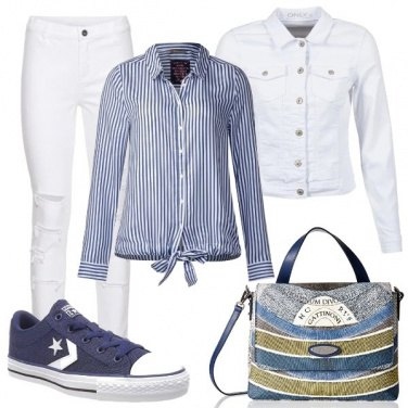 Outfit Converse blue
