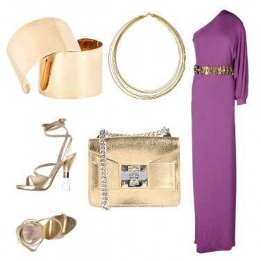 Outfit Gold & purple