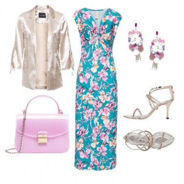 Outfit Fiori e argento