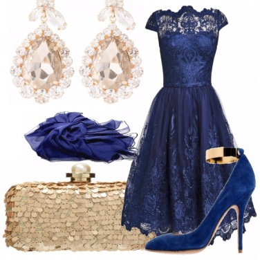 Outfit Brillante in blu