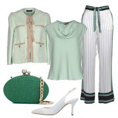 Outfit Bianco e pastello