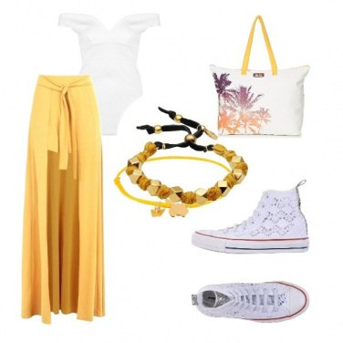 Outfit Converse pizzo