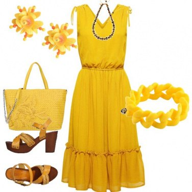 Outfit Giallo summer