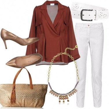 Pantaloni Tutti Per Outfit I E Mattone Basic Donna Toni Bianchi w4aq8rHxvw
