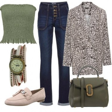 Outfit Print animalier