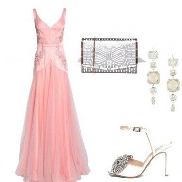 Outfit Cerimonia in rosa confetto