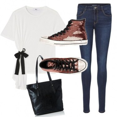Outfit Converse bronzo