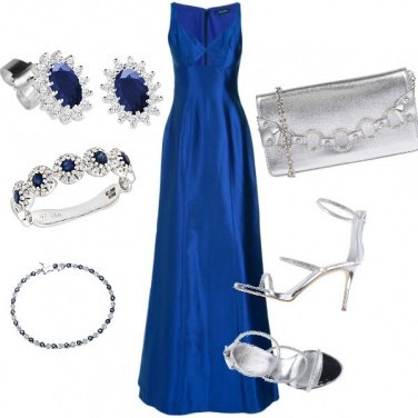 Outfit Eleganza in blue ##