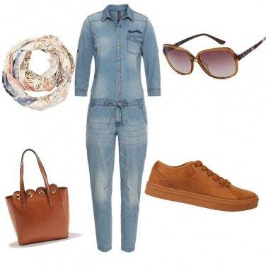 Outfit Protagonista la tuta di Jeans