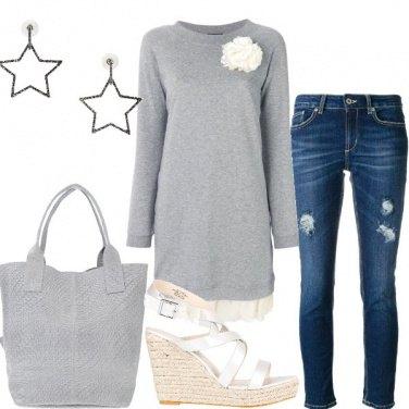 Outfit Grigio e blu