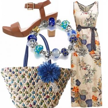 Outfit Fiore blu!