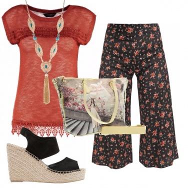 Outfit Panta culotte a fiori