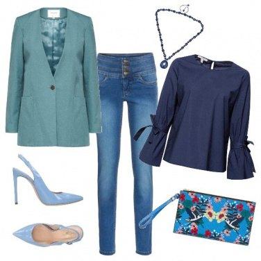 Outfit Sfumature d\'azzurro