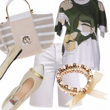 Outfit Perle, fiocchi e ballerine