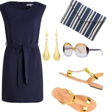 Outfit Blue-Gold