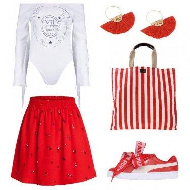 Outfit Se ami il rosso